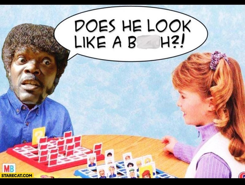 funny meme about playing Guess Who?