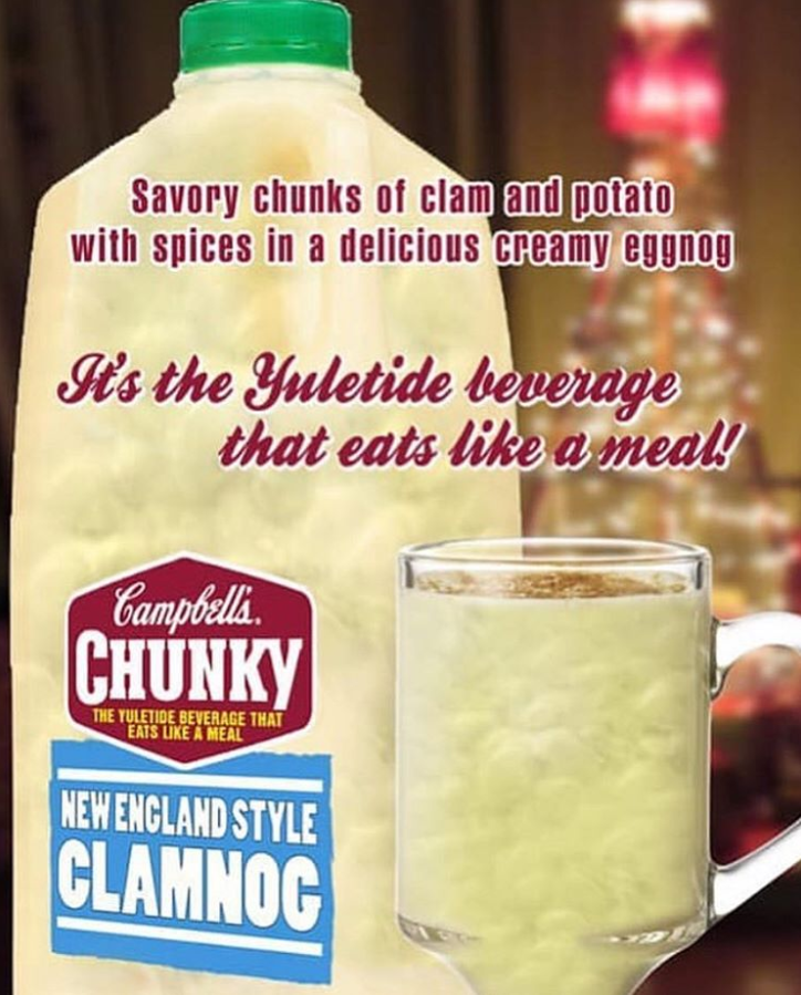 funny meme about campbells chunky clam chowder.