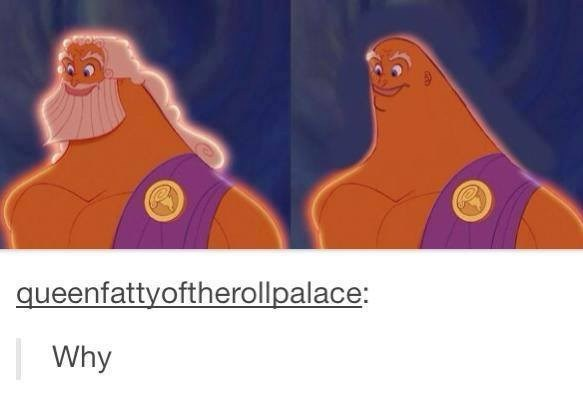 funny meme of Zeus without hair