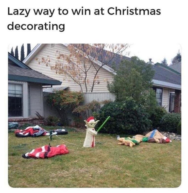 Lawn - Lazy way to win at Christmas decorating