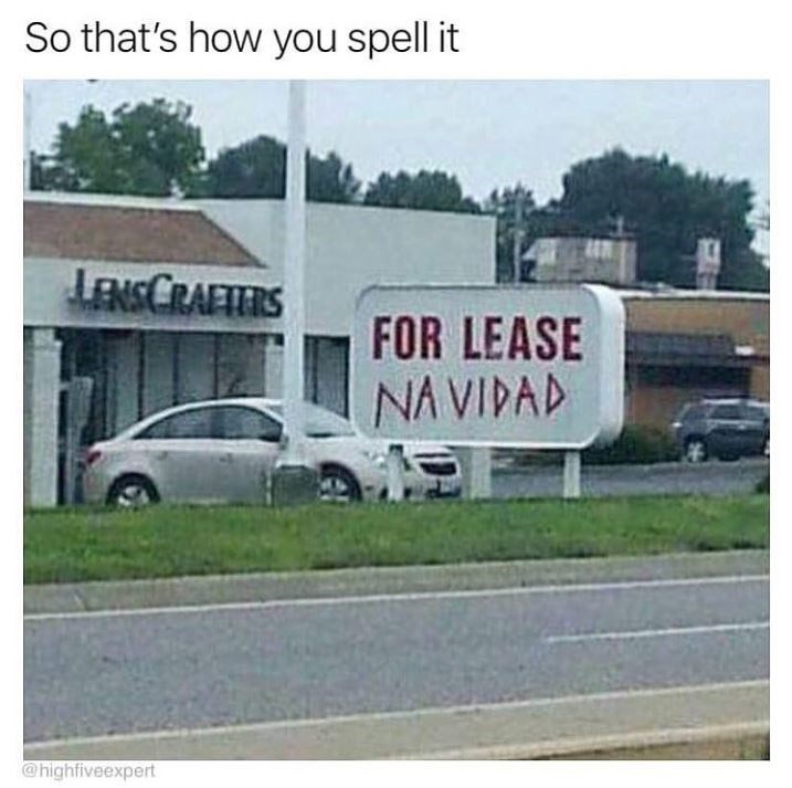 Transport - So that's how you spell it LENSCRAFIERS FOR LEASE NA VIDAD @highfiveexpert