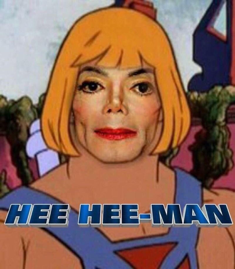 funny meme merging Michael Jackson and He Man