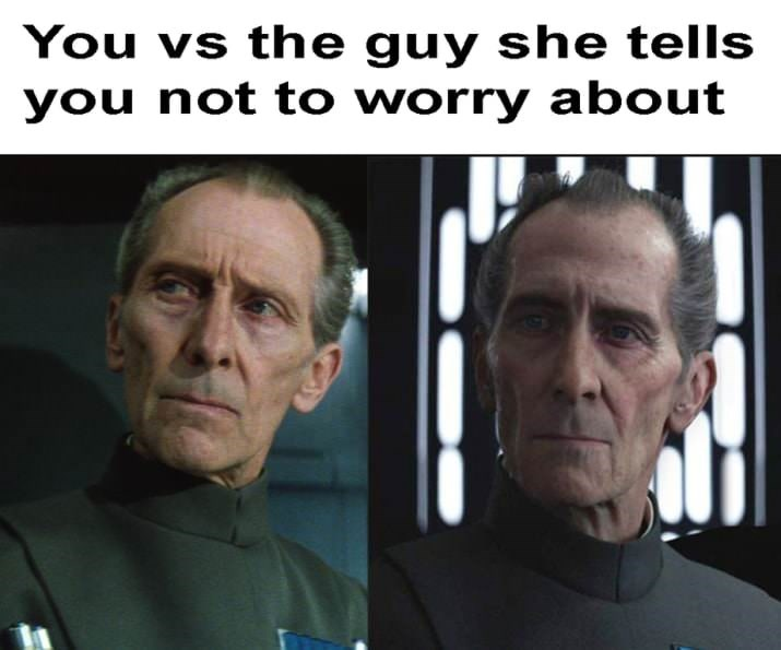 """meme comparing Grand Moff Tarkin in """"A New Hope"""" and his CGI model in """"Rogue One"""""""