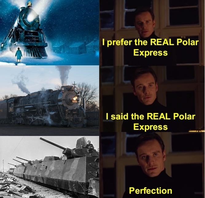 dank history meme with Magneto asking to see the real polar express