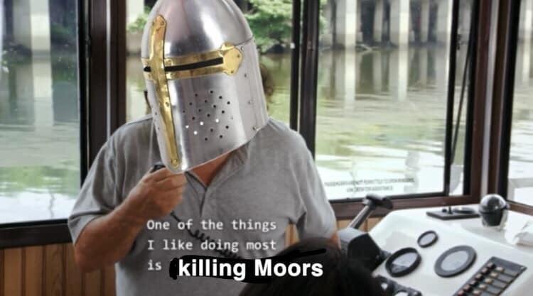 dank history meme about killing moors