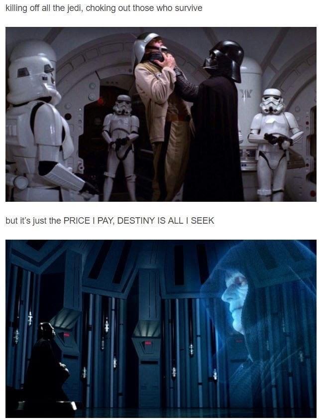 Mr Brightside Star Wars meme with Darth Vader attacking the rebel ship