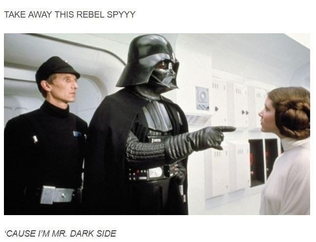 Mr Brightside Star Wars meme with Darth Vader capturing Leia