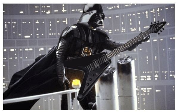 Mr Brightside Star Wars meme with pic of Darth Vader rocking on a sweet guitar