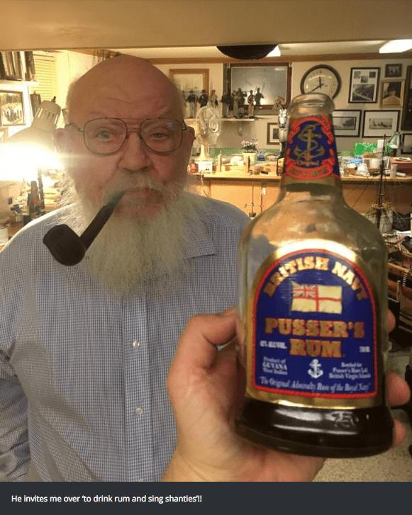 Drink - NAV PUSSER'S RUM P He invites me over 'to drink rum and sing shanties!!