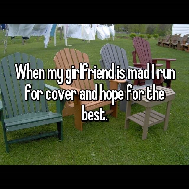Furniture - When my girFriend is madIrun For cover and hope For the best