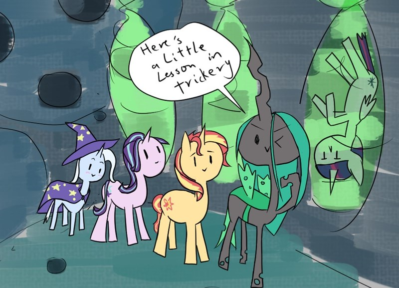 the great and powerful trixie Lazytown starlight glimmer twilight sparkle chrysalis we are number one ponify sunset shimmer changelings - 9252881664