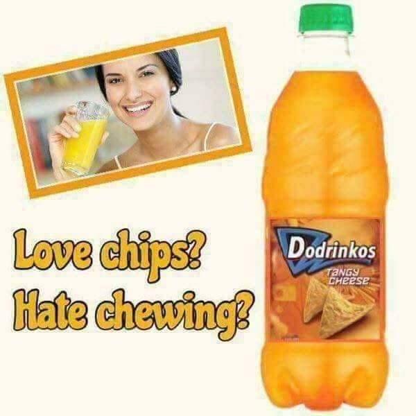 meme of ad for dorito flavored drink