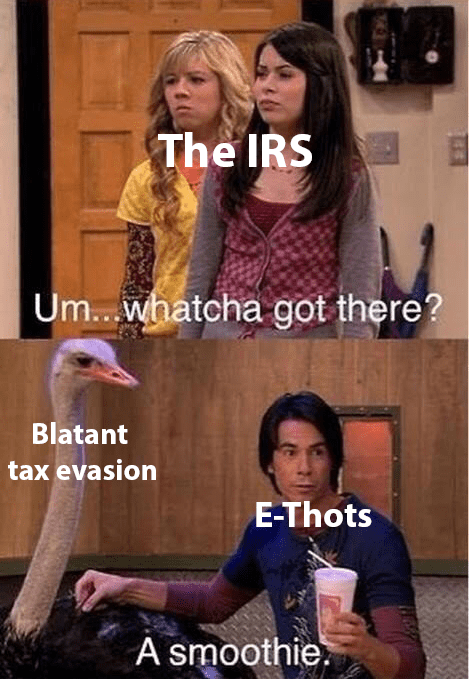 iCarly meme with Spencer as camgirls evading paying taxes