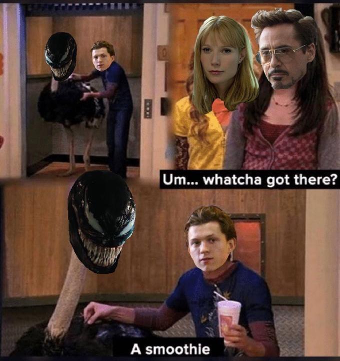 iCarly meme with Spencer as Spider Man hiding Venom