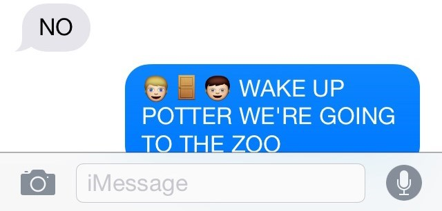 Text - NO WAKE UP POTTER WE'RE GOING ΤΟ ΤHEZO iMessage