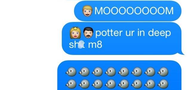 Text - MOOOOOO0OM potter ur in deep shlt m8
