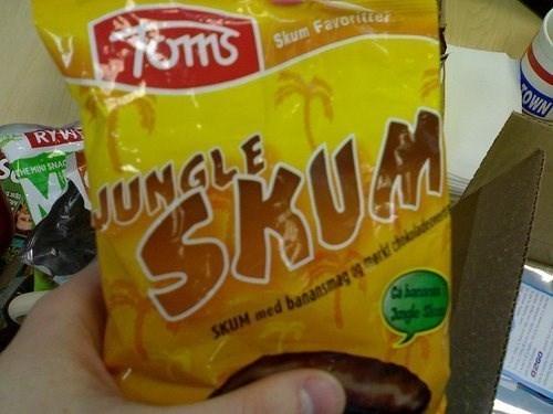 Junk food - Skum Favoriter RYW OWN THE MINI SNAC UNGLE SHUM SKUM med banansmag agmer d Jngle S Ca a