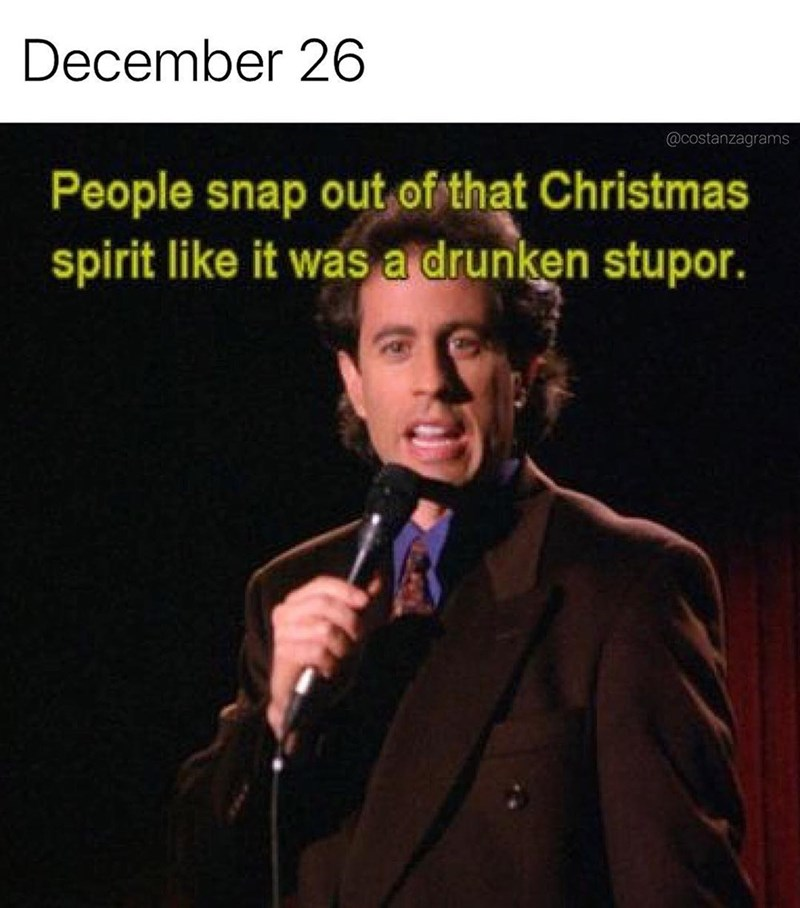 Seinfeld meme about the day after Christmas