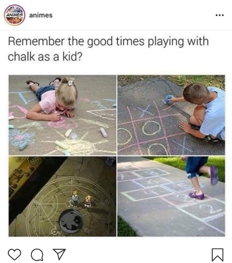 meme about playing with chalk during your childhood