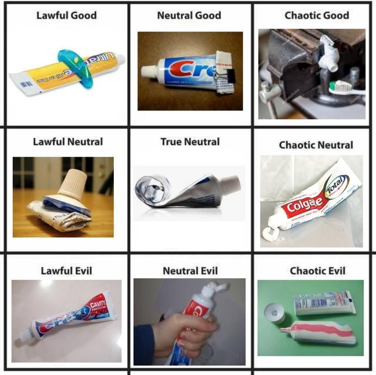 meme of the different names of how toothpaste is used