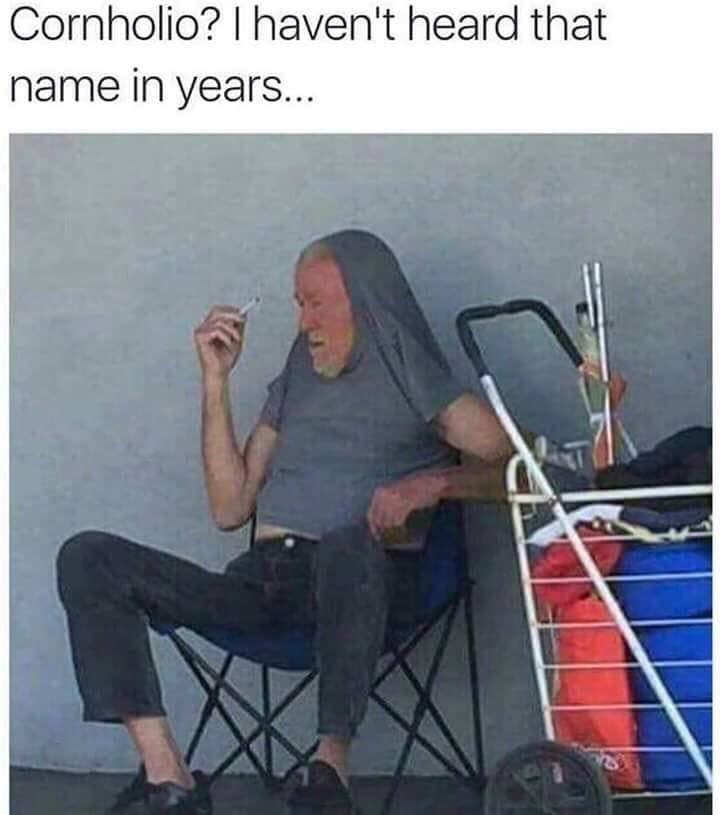 meme about real life Beavis from Beavis and Butthead with pic of man smoking with his shirt pulled over his head
