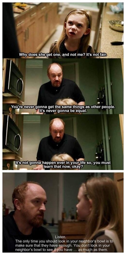 Louis CK giving life lesson to daughter
