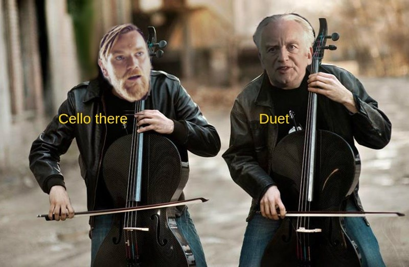 iconic Star Wars lines as a cello duet