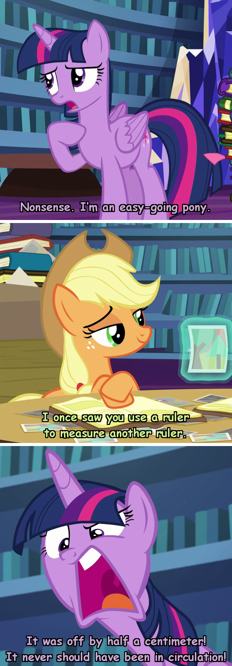 applejack brooklyn nine-nine incorrect my little pony quotes twilight sparkle screencap every little thing she does comic - 9253920768