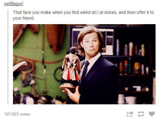 meme about giving your friend weird things that you found in a store