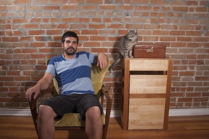 man loves cats - Wall