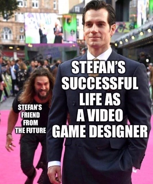 black mirror meme - People - STEFAN'S SUCCESSFUL LIFE AS A VIDEO THE FUTURE GAME DESIGNER STEFAN'S FRIEND FROM