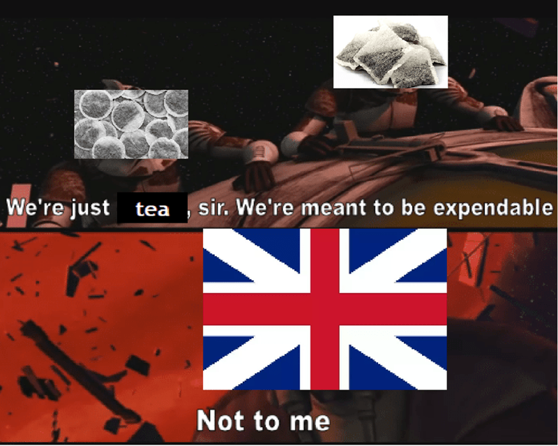 history meme - Font - We're just tea sir. We're meant to be expendable CK Not to me