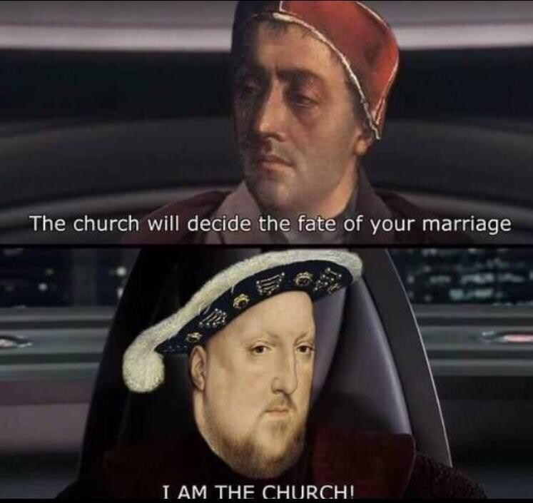 history meme - Headgear - The church will decide the fate of your marriage I AM THE CHURCH!
