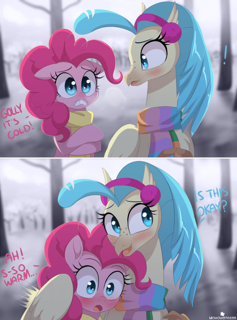 shipping princess skystar vera witch pinkie pie hippogriff comic - 9254879232