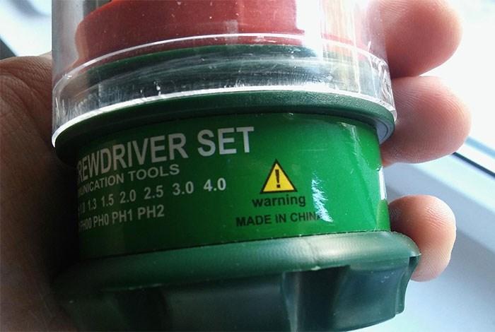 Product - EWDRIVER SET NICATION TOOLS 13 1.5 2.0 2.5 3.0 4.0 H00 PHO PH1 PH2 warning MADE IN CHIN