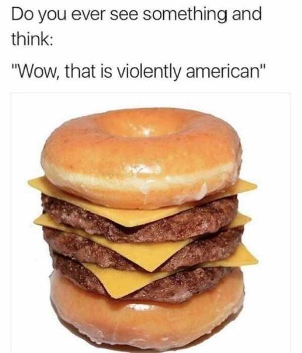 """Hamburger - Do you ever see something and think: """"Wow, that is violently american"""""""