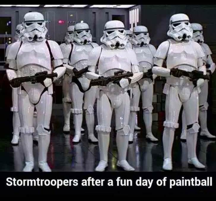 Toy - Stormtroopers after a fun day of paintball