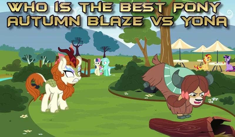 yaks twilight sparkle lyra heartstrings autumn blaze kirin sunset shimmer best pony yona bon bon - 9254980352
