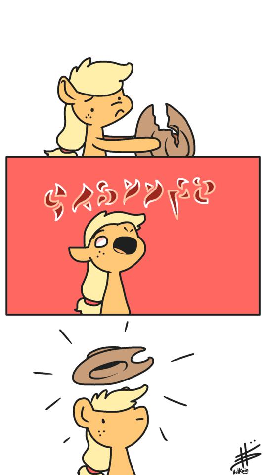 applejack comic pencil brony - 9254987776