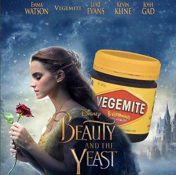 Album cover - JOSH GAD KEVIN LUKE EMMA KLINE VEGEMITE EVANS WATSON e 380 VEGEMITE iSNEp BVIiNS FOR VITALITY DEAUTY VEAST A SNCE 1923 AND THE
