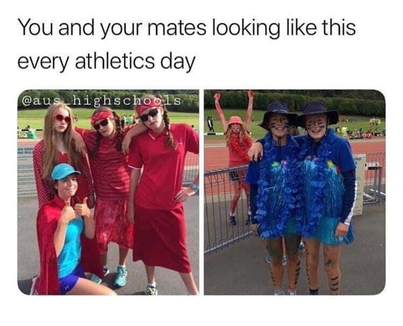 Clothing - You and your mates looking like this every athletics day @aus highschools