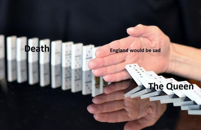 queen elizabeth death meme - Finger - Death England would be sad The Queen