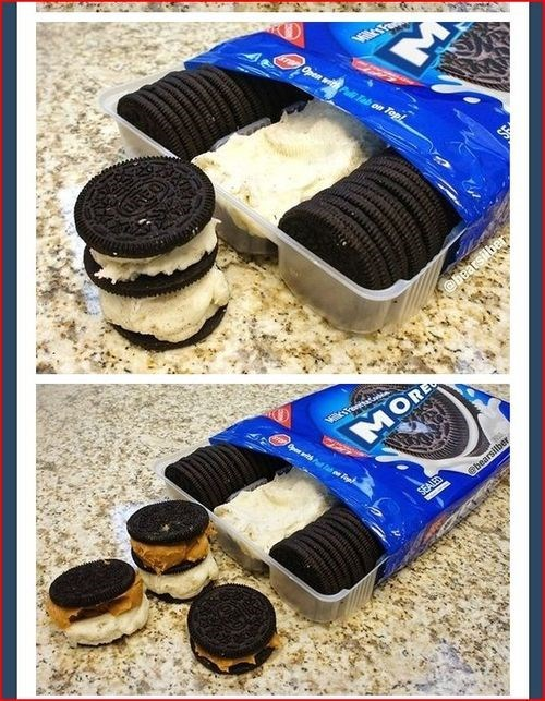 Two additional pics of 'Moreos,' one with peanut butter and icing