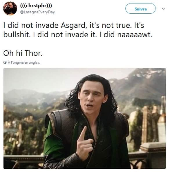 Meme about Loki being Tommy Wiseau in the movie The Room