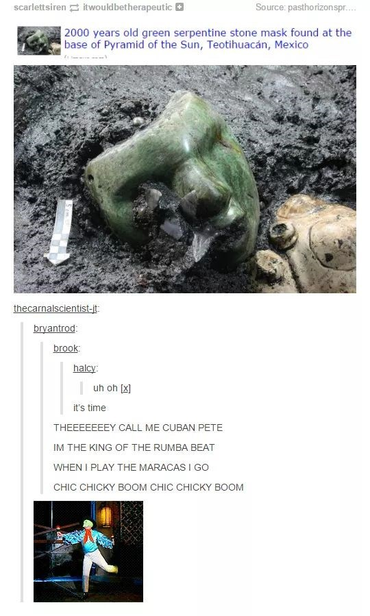Headline about the discovery of The Mask in real life