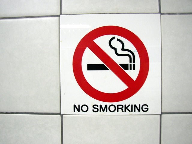 "no smoking sign that says ""no smorking"""