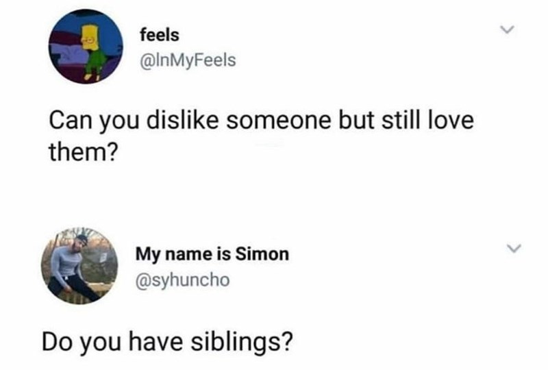 post about disliking someone but still loving them