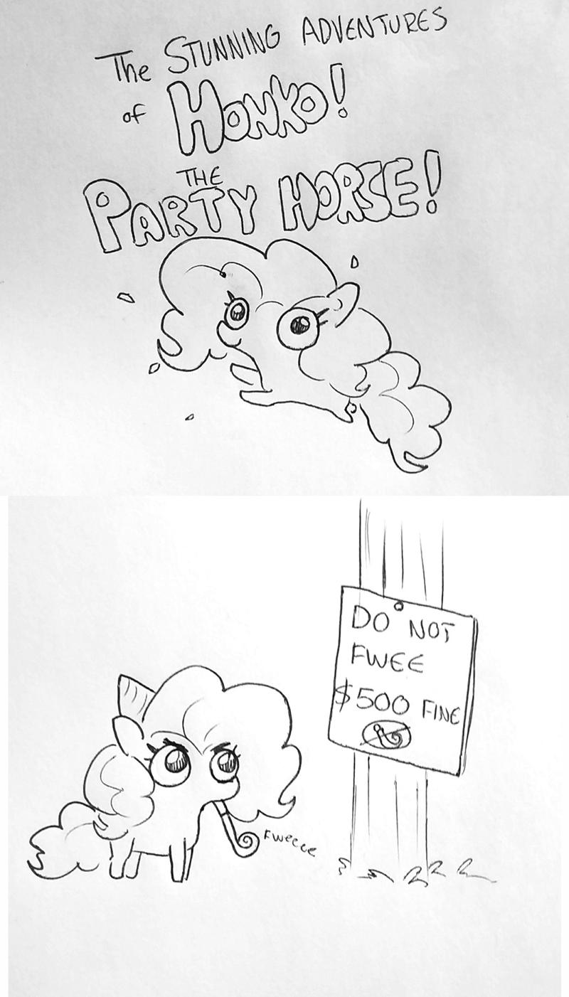 tj pones honko the partyhorse pinkie pie comic - 9256234752