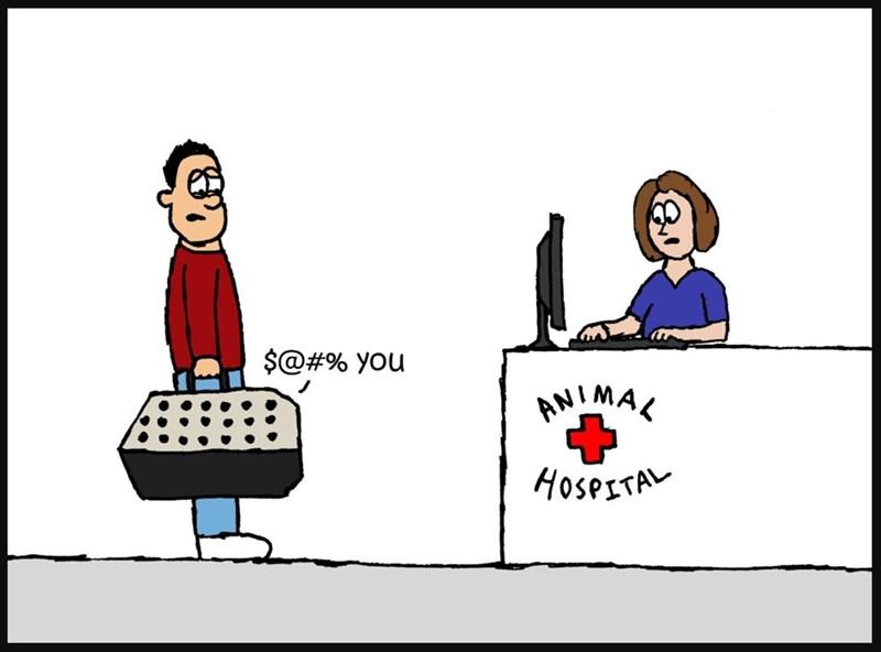 Cartoon - $@#% you AMIMAL HOSPETA