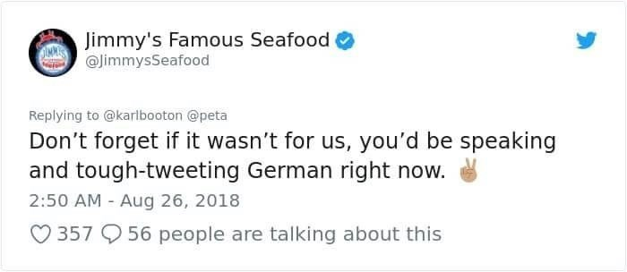 jimmy's famous seafood telling brit america saved him from nazi germany